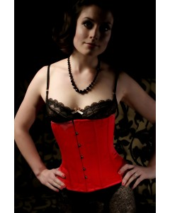 Waist Cinching Satin Under The Bust Rouge Trixi Corset