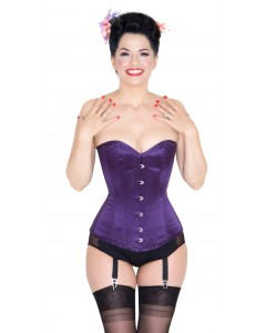 Pure Silk Indigo Colour Dita Steel Boned Corset