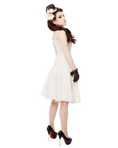 Ivory Satin Cirle Skirt