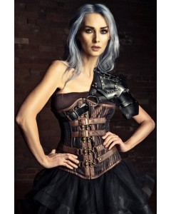 Playgirl Gordine Gored Hips 24 Bone Waist Training Steampunk Corset
