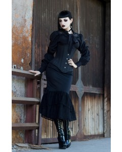 Gothic Gored Corset & Black Patent Boots