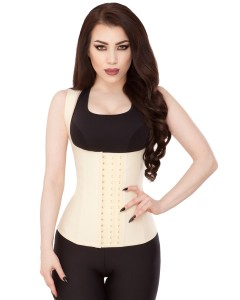 Playgirl Nude Latex Waist Trainer Sports Vest