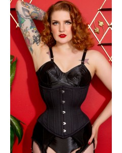 Artemis Corset with Extreme Curve in Black