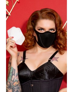 3 Black Cotton & Lycra Breath Easy Face Masks With HEPA Filter