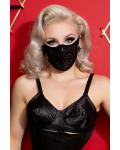 Black Sequin & Lycra Face Mask With Filter